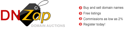 DNZap.com Domain Auctions Domain Name Auctions